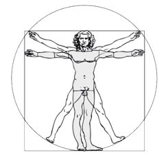 Physio RImbach Vitruvianischer Mensch